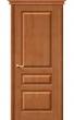 Межкомнатная дверь М5 ПГ светлый лак